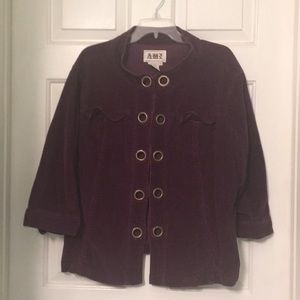 AMI Corduroy Jacket 1X 3/4 Sleeves